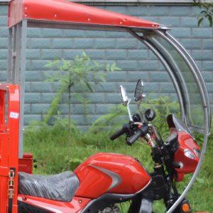 Parabrisas y techo moto de carga